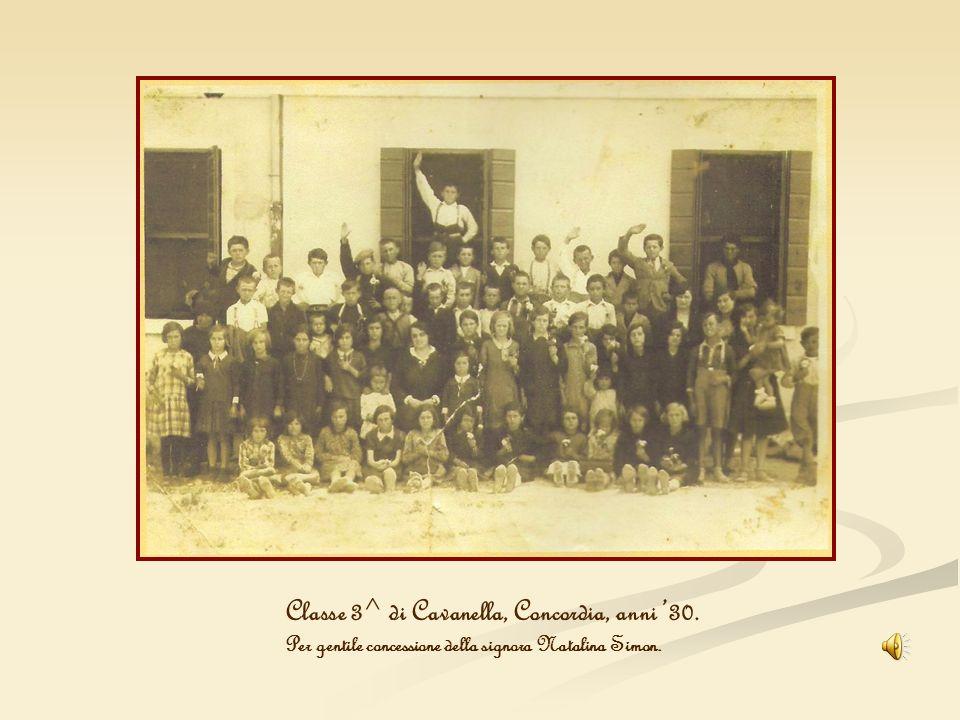 Classe 3^ di Cavanella, Concordia, anni '30.