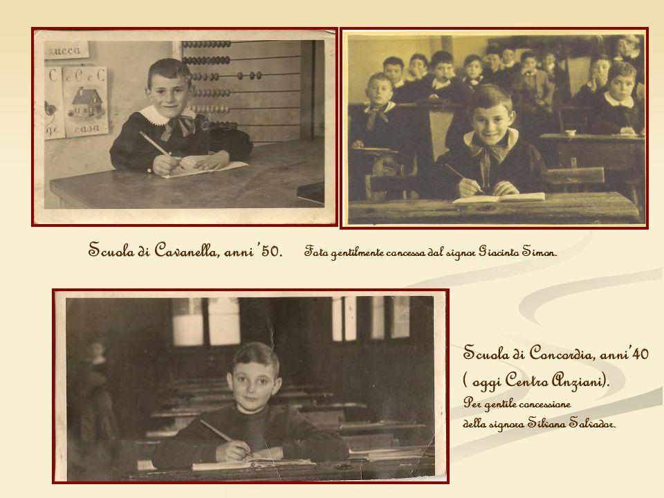 Scuola di Concordia, anni'40 ( oggi Centro Anziani).