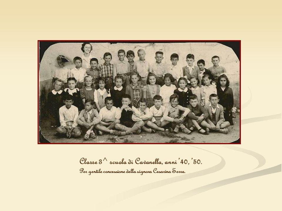 Classe 3^ scuola di Cavanella, anni '40, '50.