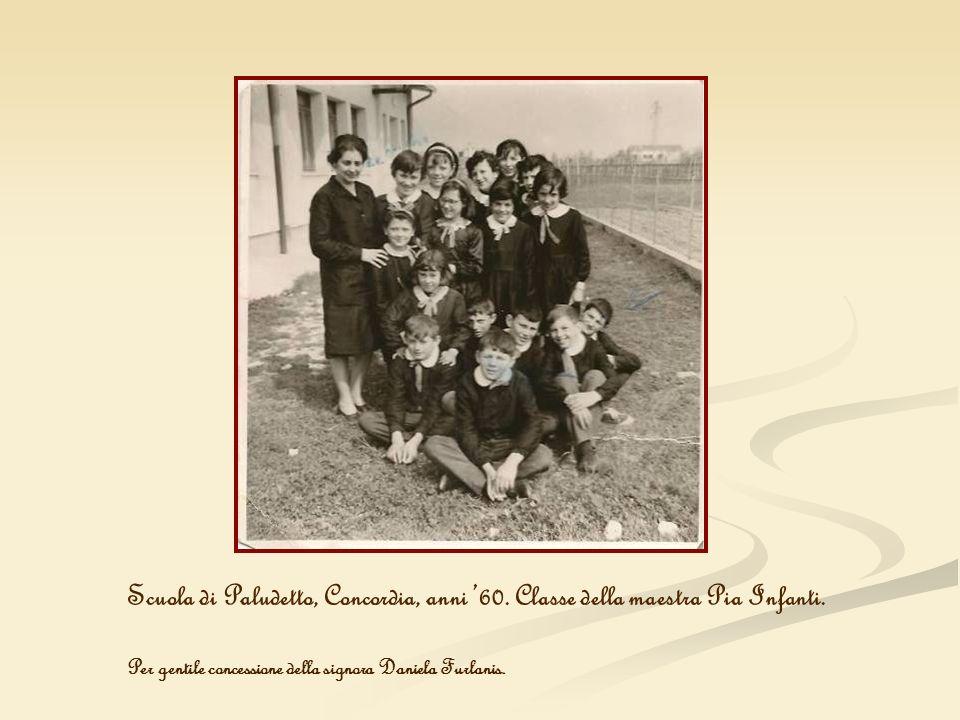 Scuola di Paludetto, Concordia, anni '60