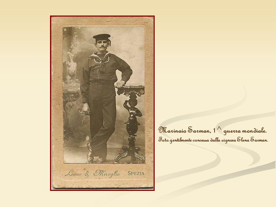 Marinaio Sarman, 1^ guerra mondiale.
