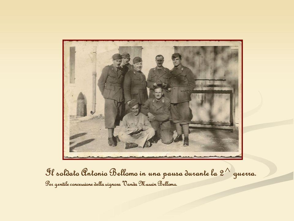 Il soldato Antonio Bellomo in una pausa durante la 2^ guerra.