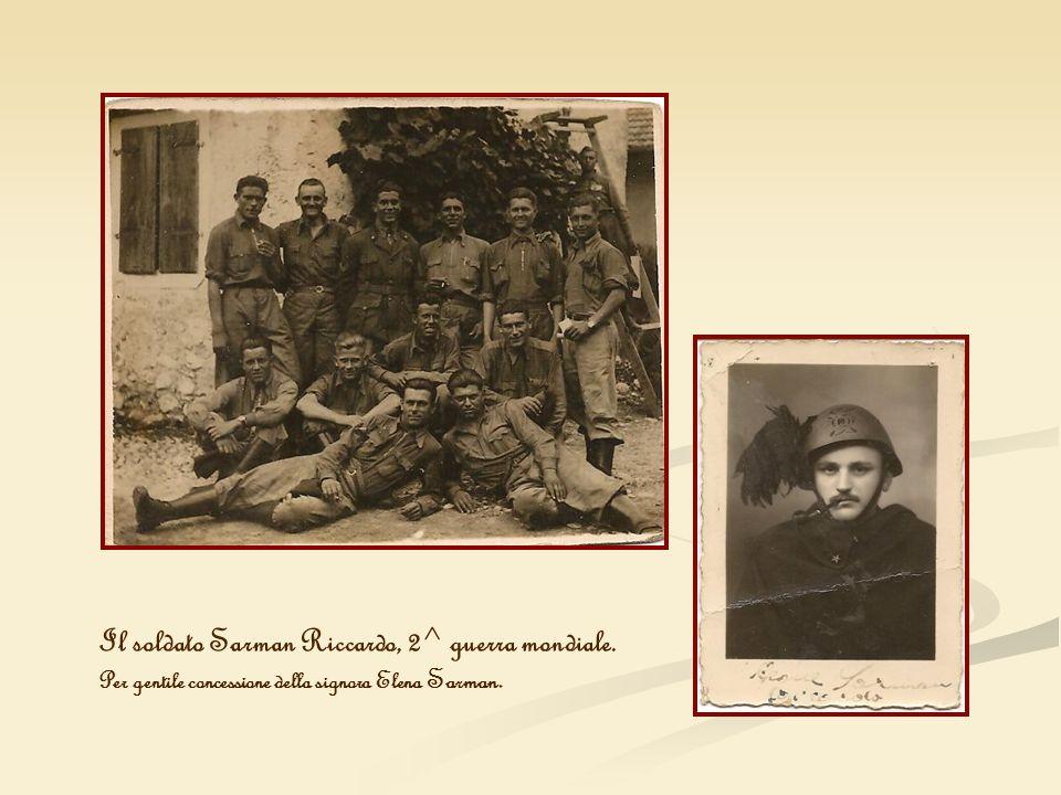 Il soldato Sarman Riccardo, 2^ guerra mondiale.