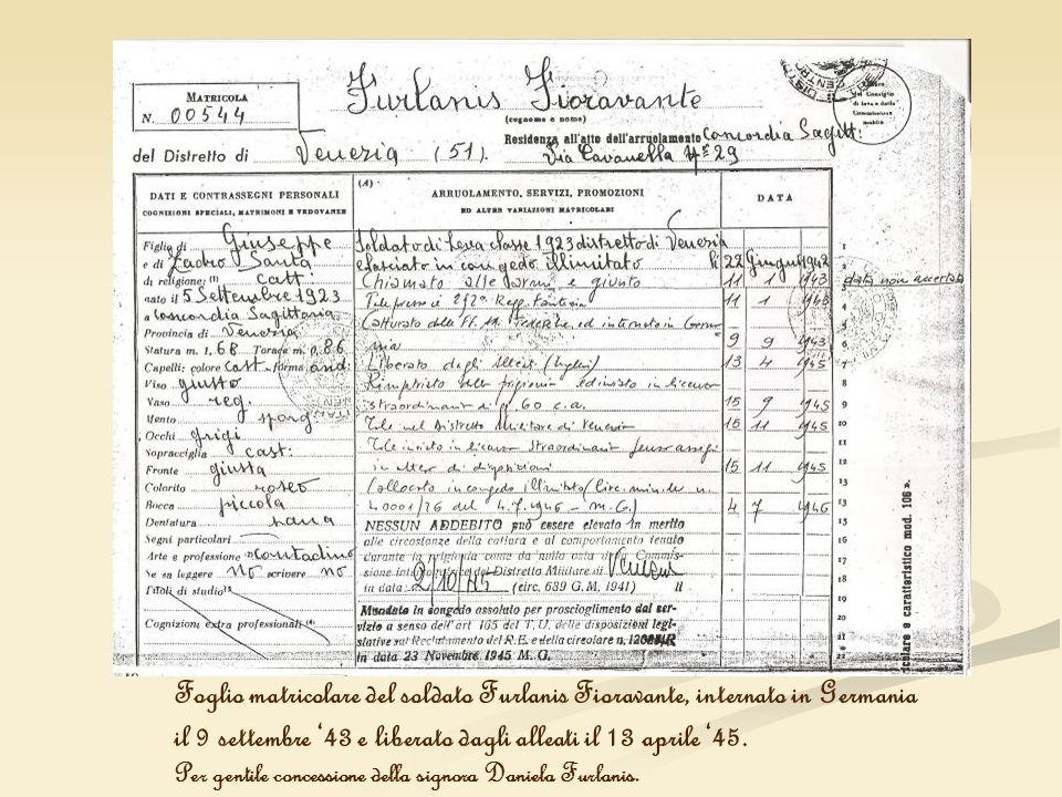 il 9 settembre '43 e liberato dagli alleati il 13 aprile '45.