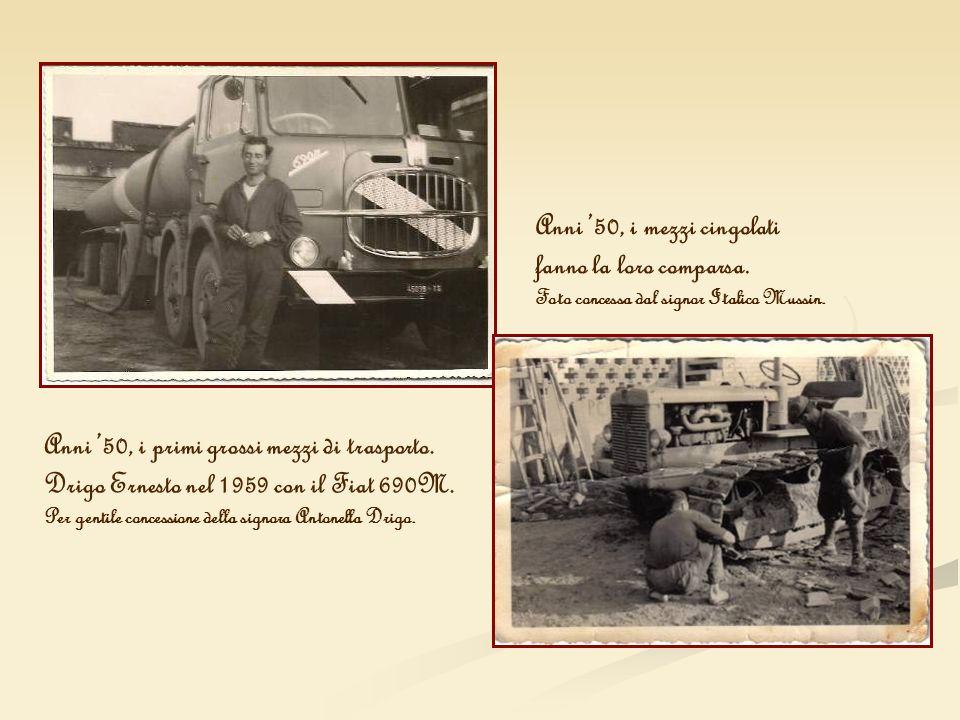 Anni '50, i mezzi cingolati fanno la loro comparsa.