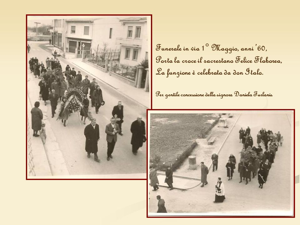 Funerale in via 1° Maggio, anni '60,
