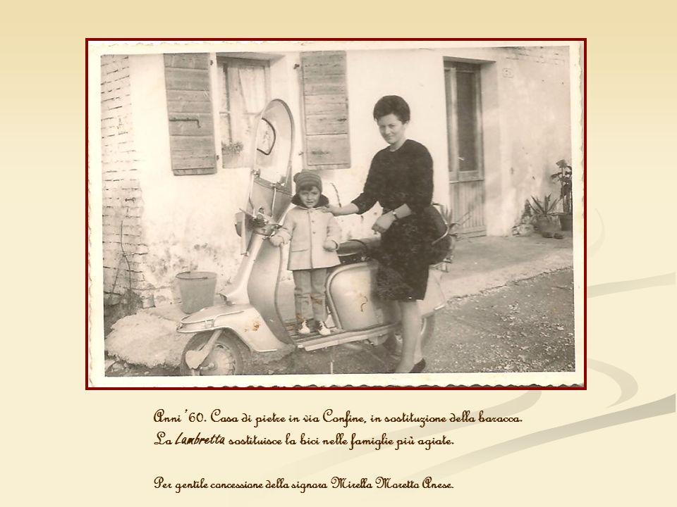 La Lambretta sostituisce la bici nelle famiglie più agiate.
