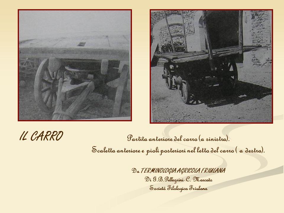 IL CARRO Partita anteriore del carro (a sinistra).