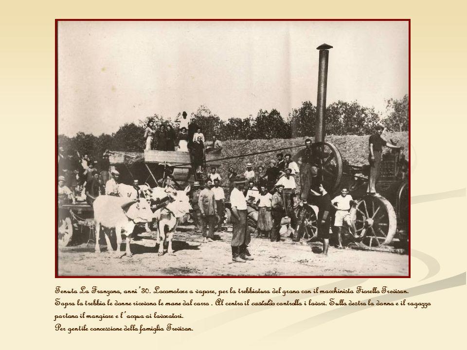 Tenuta La Franzona, anni '30