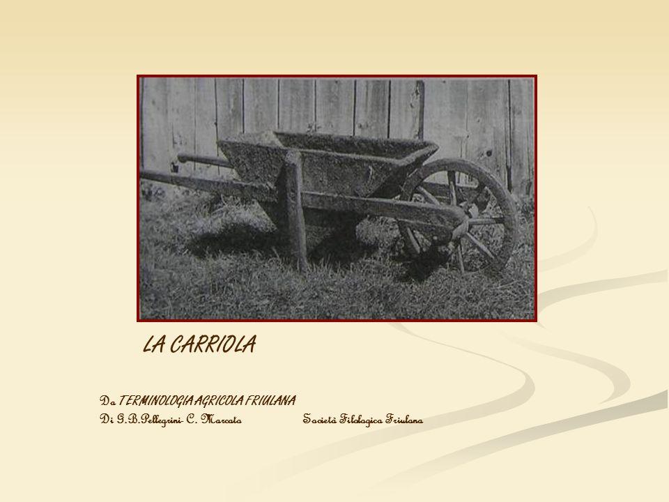 LA CARRIOLA Da TERMINOLOGIA AGRICOLA FRIULANA