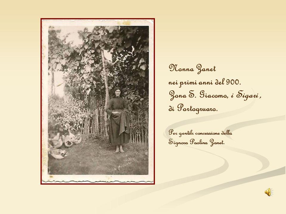Nonna Zanet nei primi anni del 900. Zona S. Giacomo, i Sigari ,