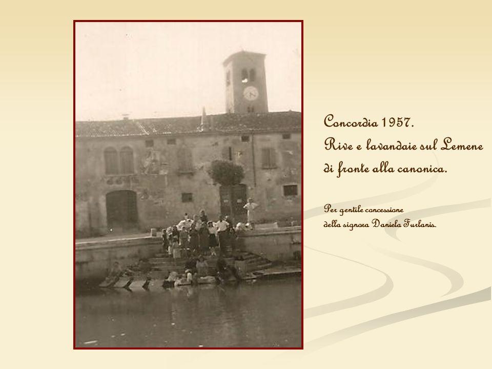 Rive e lavandaie sul Lemene di fronte alla canonica.