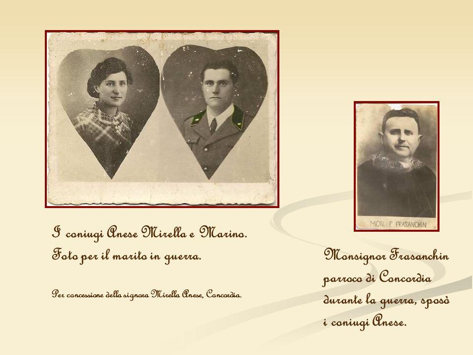 I coniugi Anese Mirella e Marino. Foto per il marito in guerra.