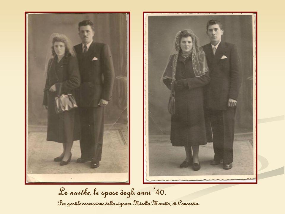Le nuithe, le spose degli anni '40.
