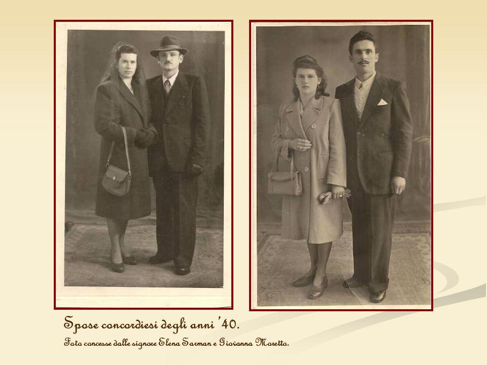 Spose concordiesi degli anni '40.