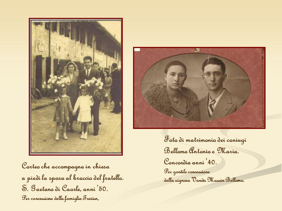 Foto di matrimonio dei coniugi Bellomo Antonio e Maria.