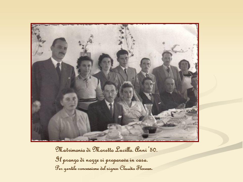 Matrimonio di Moretto Lucillo. Anni '50.