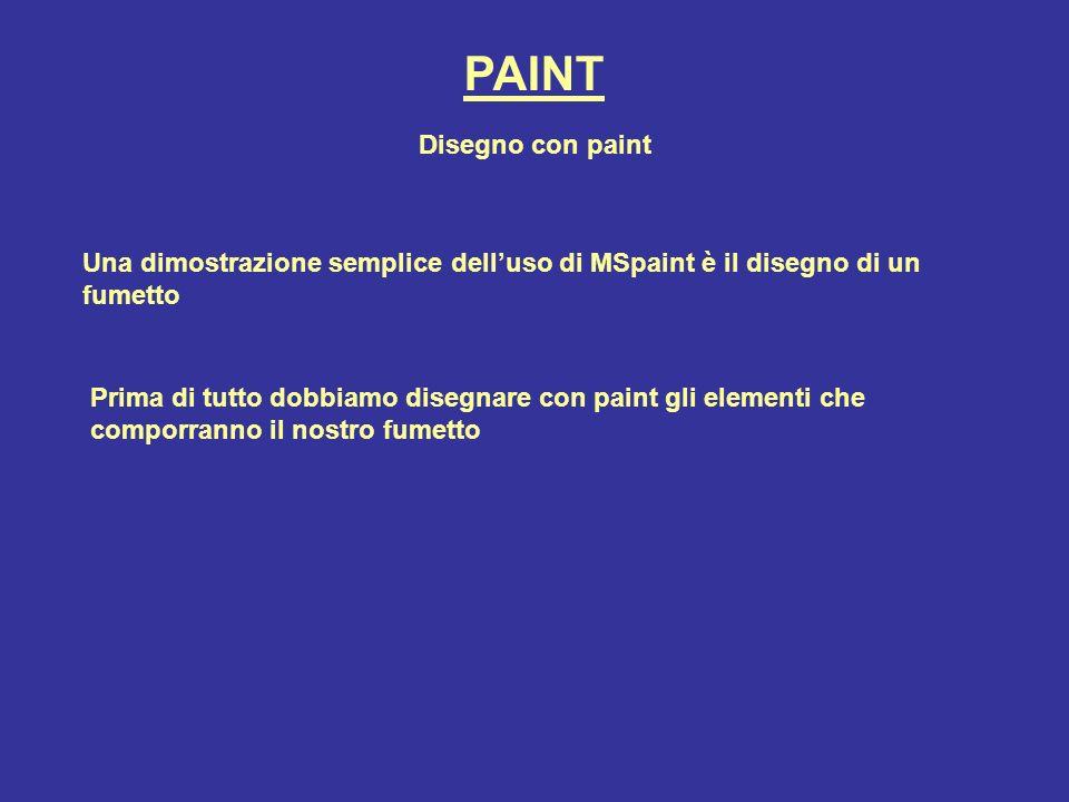 PAINT Disegno con paint