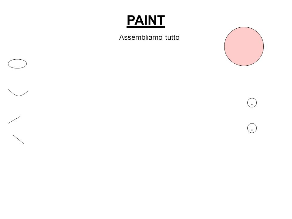 PAINT Assembliamo tutto . .