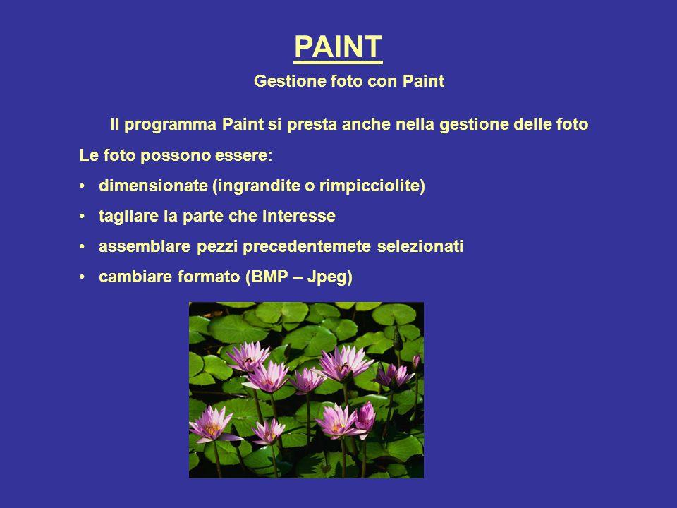 PAINT Gestione foto con Paint