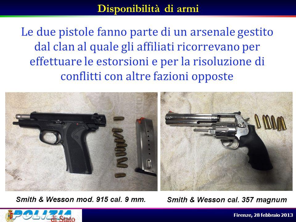 Disponibilità di armi