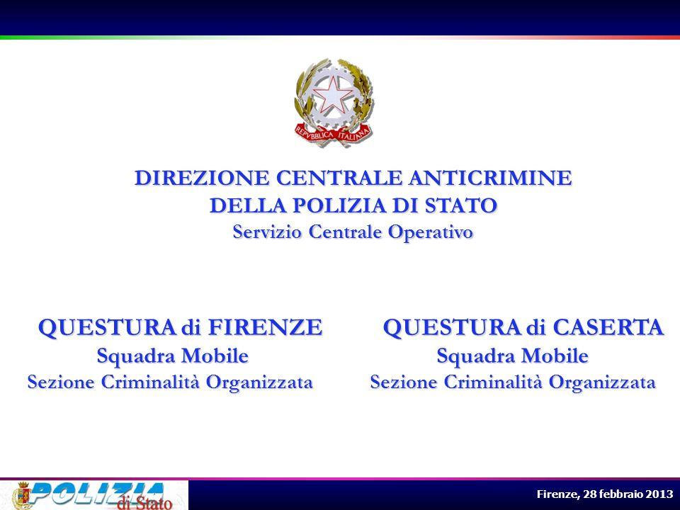 DIREZIONE CENTRALE ANTICRIMINE DELLA POLIZIA DI STATO Squadra Mobile