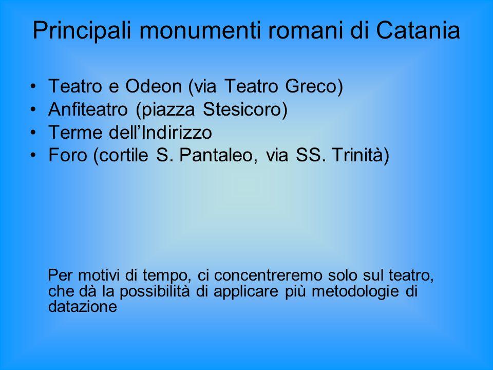Principali monumenti romani di Catania
