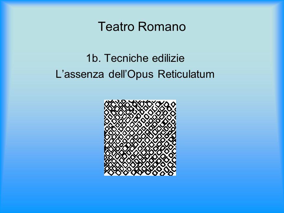L'assenza dell'Opus Reticulatum