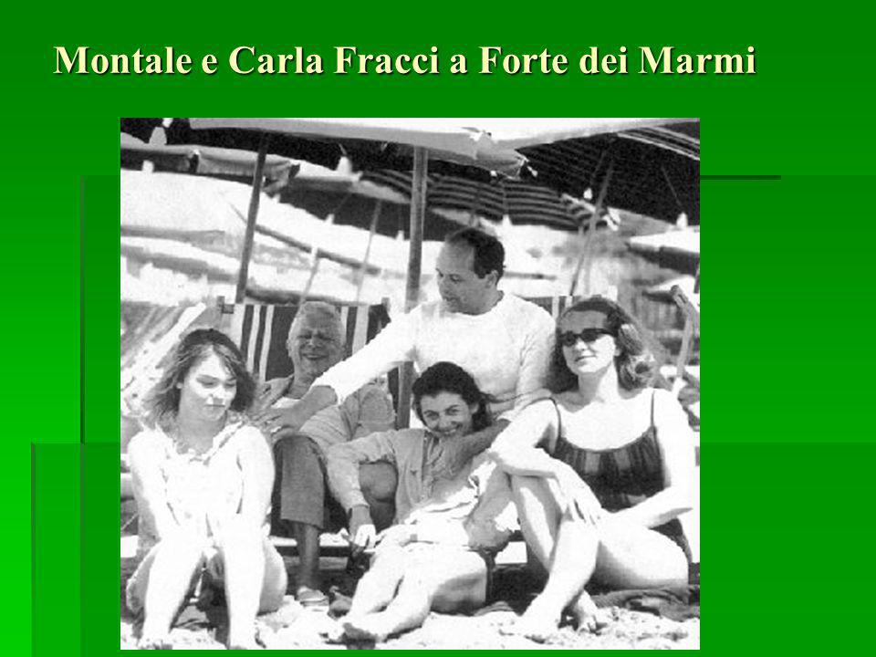 Montale e Carla Fracci a Forte dei Marmi