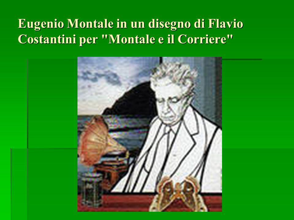 Eugenio Montale in un disegno di Flavio Costantini per Montale e il Corriere