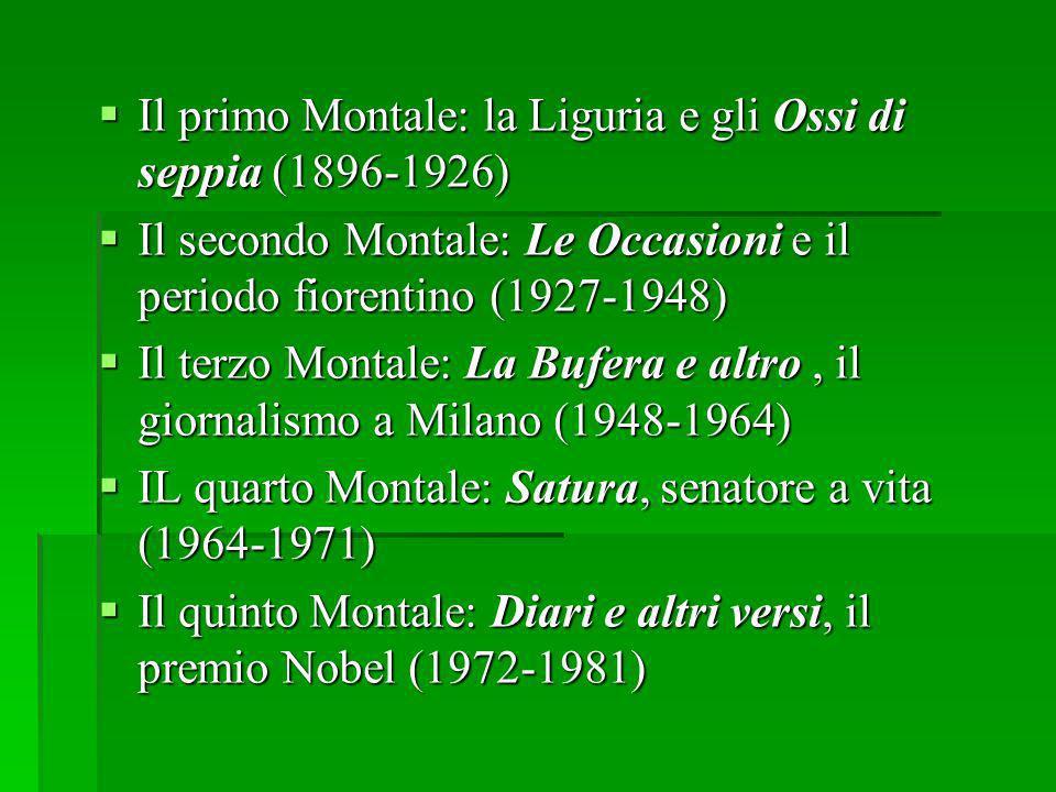 Il primo Montale: la Liguria e gli Ossi di seppia (1896-1926)