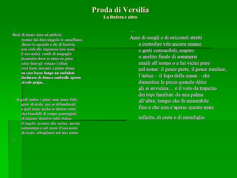 Proda di Versilia La Bufera e altro