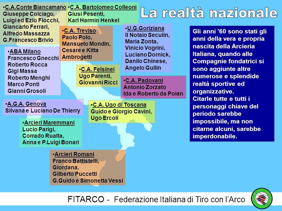 La realtà nazionale FITARCO - Federazione Italiana di Tiro con l'Arco
