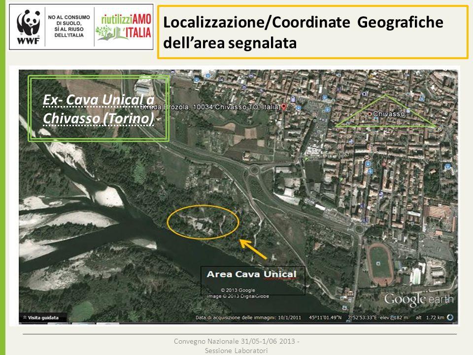 Localizzazione/Coordinate Geografiche dell'area segnalata
