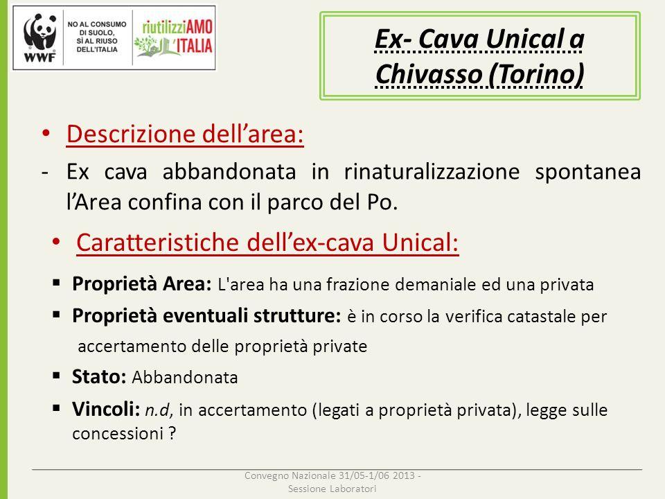 Ex- Cava Unical a Chivasso (Torino)
