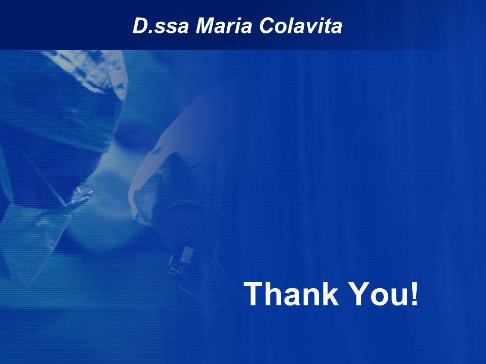 D.ssa Maria Colavita Thank You!