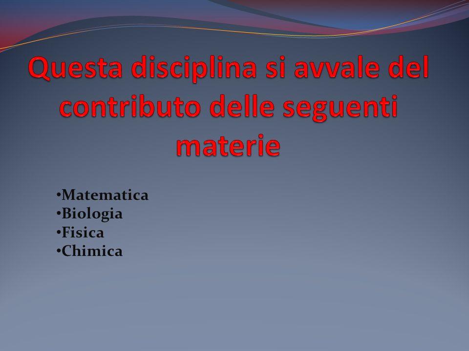 Questa disciplina si avvale del contributo delle seguenti materie