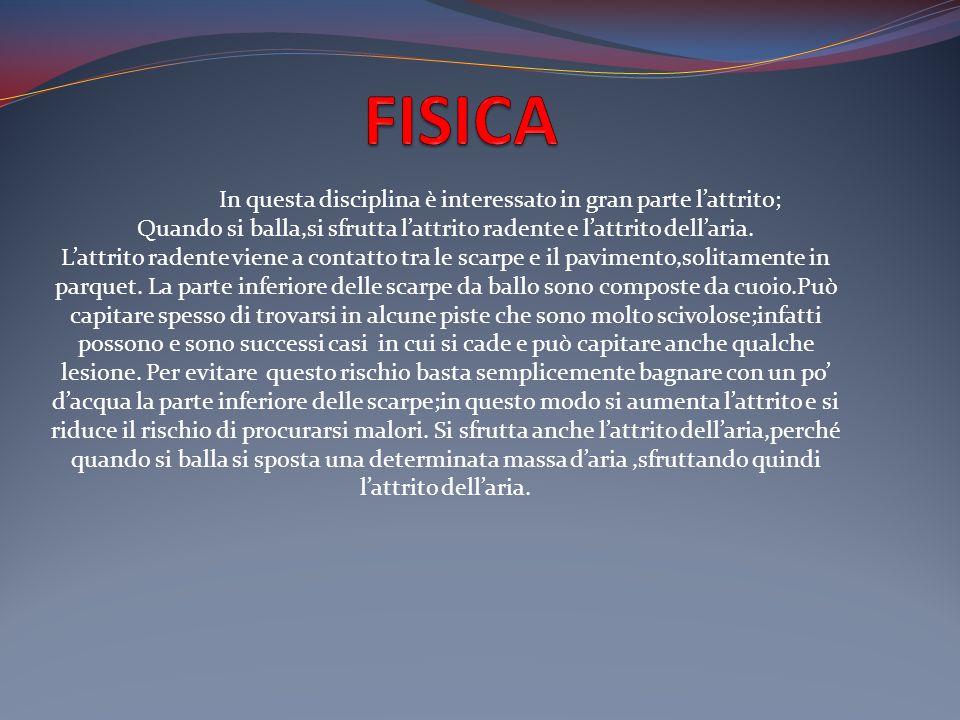FISICA In questa disciplina è interessato in gran parte l'attrito;