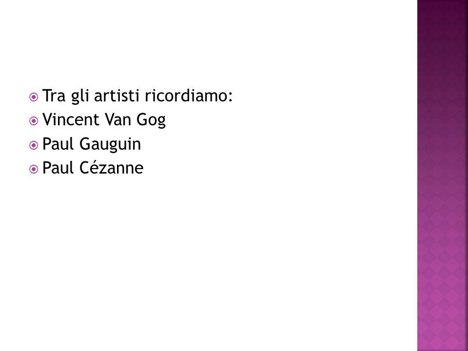 Tra gli artisti ricordiamo: