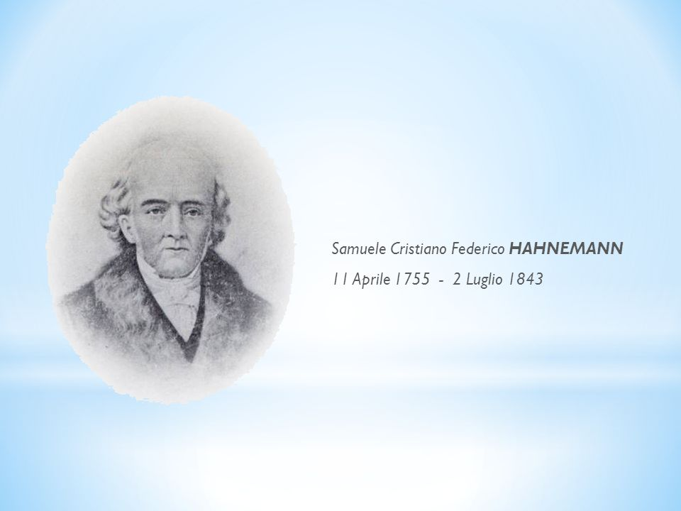 Samuele Cristiano Federico HAHNEMANN