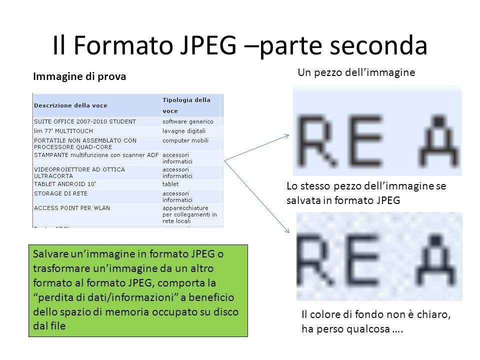 Il Formato JPEG –parte seconda