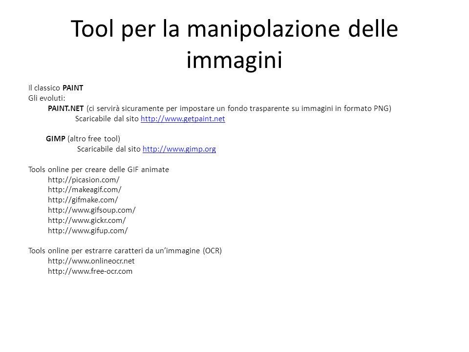 Tool per la manipolazione delle immagini