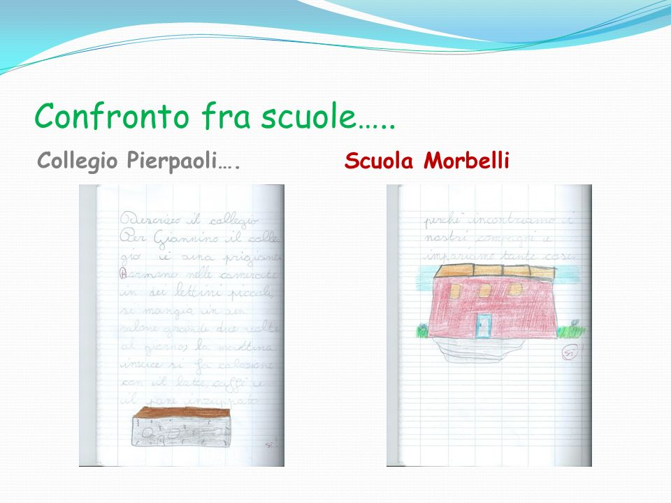 Confronto fra scuole….. Collegio Pierpaoli…. Scuola Morbelli