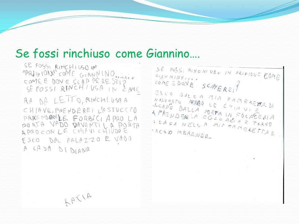 Se fossi rinchiuso come Giannino….
