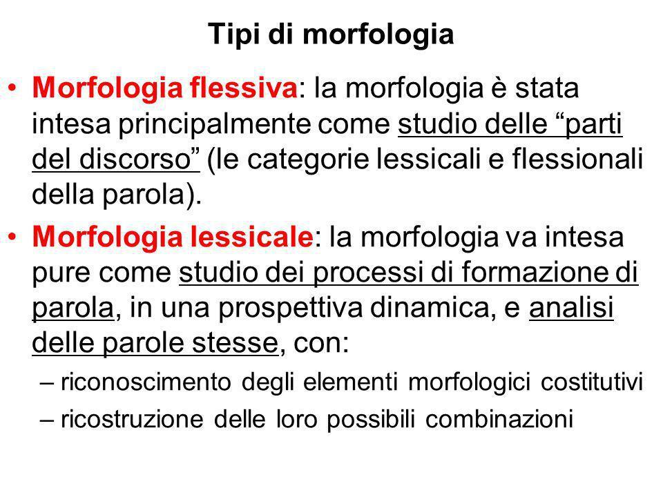 Tipi di morfologia