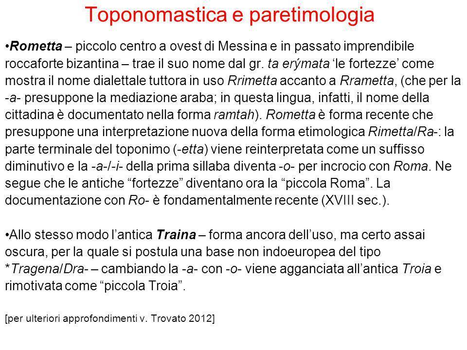 Toponomastica e paretimologia