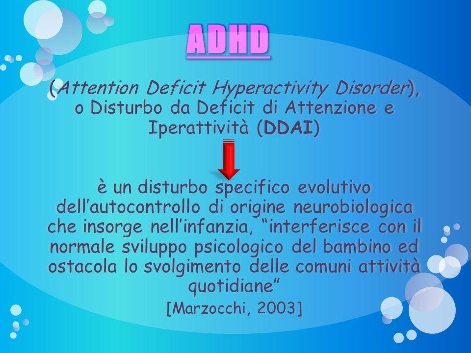 Presentazione ADHD 29/03/2017. ADHD. (Attention Deficit Hyperactivity Disorder), o Disturbo da Deficit di Attenzione e Iperattività (DDAI)