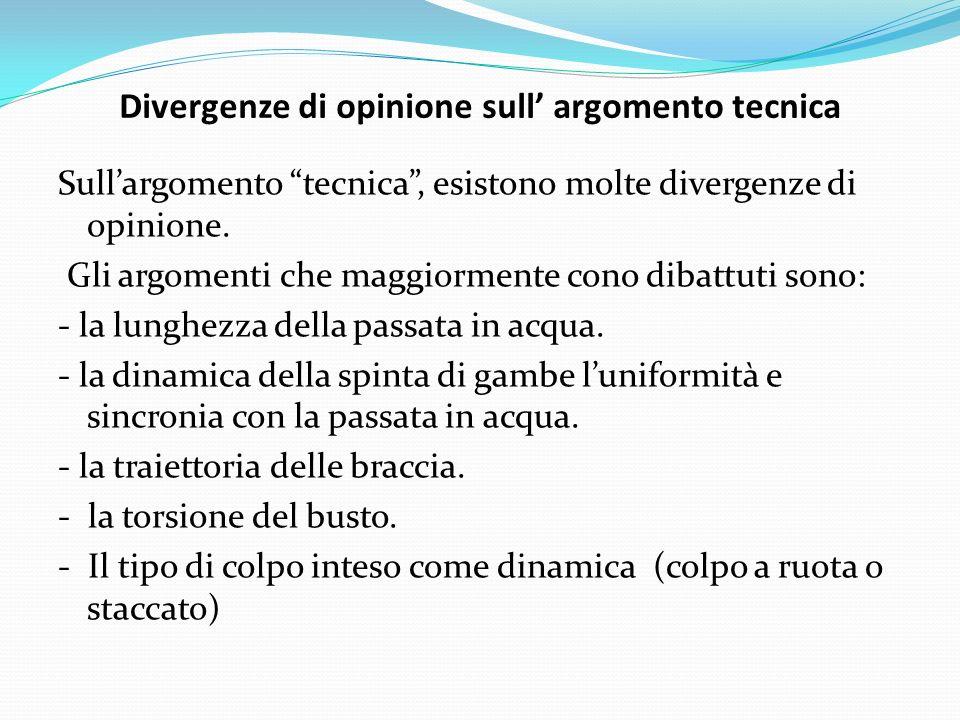 Divergenze di opinione sull' argomento tecnica