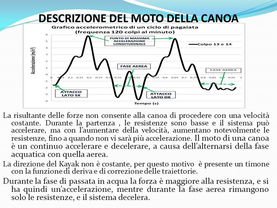 DESCRIZIONE DEL MOTO DELLA CANOA