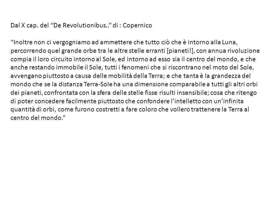 Dal X cap. del De Revolutionibus.. di : Copernico
